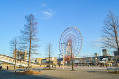 Tokyo, Japan. 13 January 2014. Daikanransh, a tall Ferris wheel at Palette Town , landmark in Odaiba. Stock Photos