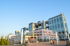 Tokyo, Japan. 13 January 2014. Fuji TV building and shopping mall, landmark in Odaiba. Stock Image