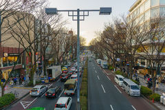 Tokyo, Japan - January 26, 2016: Omote Sando Road in evening Stock Photo