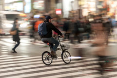 TOKYO, JAPAN - JANUARY 28, 2017: Shibuya District in Tokyo. Famous and busiest intersection in the world, Japan. Shibuya Crossing. Shibuya District in Tokyo Stock Photography