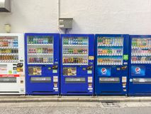 TOKYO, JAPAN - Juli 26, 2017: Automaten in Tokyo japan Royalty-vrije Stock Afbeelding