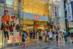 TOKYO, JAPAN - Juli 26, 2017: De opslag van het Uniqlohoofdkwartier, in Jenever Royalty-vrije Stock Fotografie