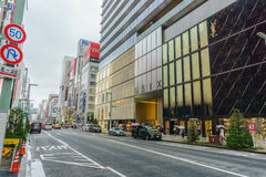 TOKYO, JAPAN - Juli 26, 2017: Ginza Zes Complexe GSIX E Stock Foto's