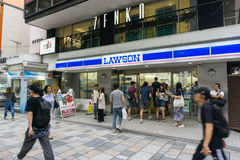 TOKYO , JAPAN  - July 26, 2017 : Lawson store in Harajuku distri. Ct  Tokyo , Japan. There are 9,065 Lawson brand stores in Japan Stock Photography