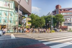 Tokyo, Japan - July 24 , 2018 : Omotesando Tokyu Plaza in Harajuku district Tokyo, Japan. one of the centers of fashion and royalty free stock image