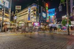 Tokyo, Japan - July 24 , 2018:Pedestrians cross at Shibuya Cross royalty free stock photography