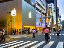 TOKYO, JAPAN -28 JUN 2017: Unidentified people Crossing the street through zebra in the Electrical Town of Akihabara, in Stock Image