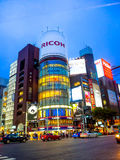TOKYO, JAPAN -28 JUN 2017: Unidentified people walking in the street through zebra in the Electrical Town of Akihabara Royalty Free Stock Photos