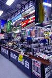 TOKYO, JAPAN JUNE 28 - 2017: Assorted cameras and lenses inside of Yodobashi camera department store. Yodobashi Camera Royalty Free Stock Photos