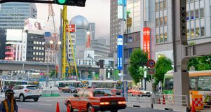 TOKYO, JAPAN - JUNE 1, 2016: Buildings and ads in Shibuya. Tokyo. Attracts 20 million tourists every year royalty free stock images