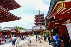 Tokyo Japan 01 June 2016 :senso-ji Asakusa temple with tourist. Senso-ji Asakusa temple with tourist Stock Photos