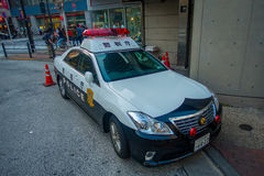 TOKYO, JAPAN JUNE 28 - 2017: Tokyo Metropolitan Police Department car parked in front of the central station of Tokyo. Japan Royalty Free Stock Photo