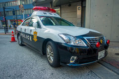 TOKYO, JAPAN JUNE 28 - 2017: Tokyo Metropolitan Police Department car parked in front of the central station of Tokyo. Japan Royalty Free Stock Photos