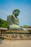 TOKYO, JAPAN JUNI 28 - 2017: Monumentaal bronsstandbeeld van Grote Boedha in Kamakura, Japan Stock Afbeeldingen