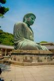 TOKYO, JAPAN JUNI 28 - 2017: Monumentaal bronsstandbeeld van Grote Boedha in Kamakura, Japan Stock Foto