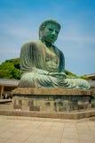 TOKYO, JAPAN JUNI 28 - 2017: Monumentaal bronsstandbeeld van Grote Boedha in Kamakura, Japan Stock Fotografie