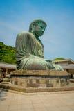 TOKYO, JAPAN JUNI 28 - 2017: Monumentaal bronsstandbeeld van Grote Boedha in Kamakura, Japan Royalty-vrije Stock Foto