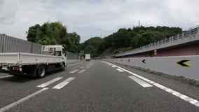Tokyo, Japan - 22. Juni 2018: POV von einem laufenden Fahrzeug auf Landstraße bei Japan stock video footage