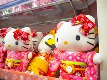 TOKYO, JAPAN JUNI 28 - 2017: Sluit omhoog van geassorteerde hello Potpoppen in een stuk speelgoed centrum in Tokyo Royalty-vrije Stock Foto's
