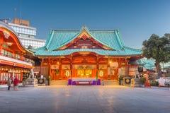 Kanda Shrine Tokyo Japan. Tokyo, Japan at Kanda Shrine at twilight stock images