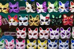 Tokyo Japan - kattmaskeringar på den Kanda Matsuri festivalen Royaltyfria Foton