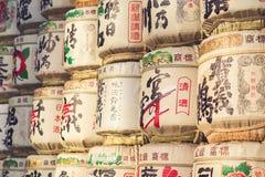 TOKYO, JAPAN - MAART 30: Een inzameling van Japanse belangenvaten s Royalty-vrije Stock Afbeelding