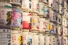 TOKYO, JAPAN - MAART 30: Een inzameling van Japanse belangenvaten s Royalty-vrije Stock Foto