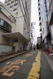 TOKYO, JAPAN - 30. MAI 2016: Steert in Shinjuku-Bezirk von Toky Stockfotografie