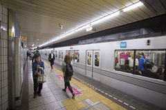 TOKYO, JAPAN - 30. MAI 2016: Tokyo-Metro-U-Bahn Stockbilder