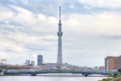TOKYO JAPAN - MAJ 25, 2013: Tokyo Skytree är en ny televisi royaltyfria bilder
