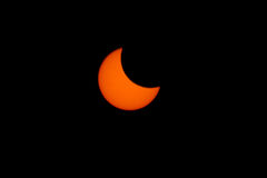 Tokyo, Japan - May 21: Annular eclipse Royalty Free Stock Images