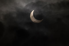 Tokyo, Japan - May 21: Annular eclipse Royalty Free Stock Photo