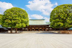 TOKYO, JAPAN - MAY 25, 2015: Imperial Meiji Shrine in Shibuya, T. TOKYO, JAPAN - MAY 25, 2015: Imperial Meiji Shrine located in Shibuya, Tokyo shrine that is royalty free stock photos