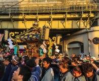 Mikoshi Matsuri Festival in Tokyo, Japan. Tokyo, Japan - May 20, 2017. Procession of Mikoshi Matsuri Festival in Tokyo, Japan. Mikoshi Matsuri is one of the Royalty Free Stock Image