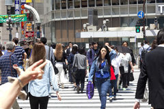 TOKYO, JAPAN - May 18, 2016: Shibuya, It`s the shopping district which surrounds Shibuya railway station. This area is known as on Stock Images