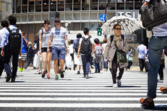 TOKYO, JAPAN - May 18, 2016: Shibuya, It`s the shopping district which surrounds Shibuya railway station. This area is known as on Stock Image