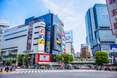 TOKYO, JAPAN: Shops ans stores in Shibuya area, the one of the fashion centers of Japan Stock Image