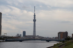 TOKYO,JAPAN - MAY 25 ,2013 : The Tokyo Skytree is a new televisi Royalty Free Stock Photography