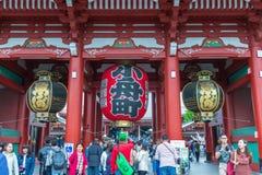 TOKYO, JAPAN - Mei 1, 2017: Sensojitempel in Tokyo, boeddhistisch t stock foto
