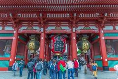 TOKYO, JAPAN - Mei 1, 2017: Sensojitempel in Tokyo, boeddhistische die tempels in Asakusa Tokyo Japan worden gevestigd stock fotografie