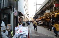 TOKYO, JAPAN - NOV 22 : Ameyoko market Royalty Free Stock Photos