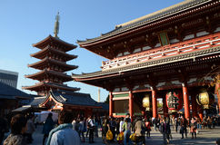 TOKYO, JAPAN - NOV 21: The Buddhist Temple Senso-ji is the symbo Stock Photo