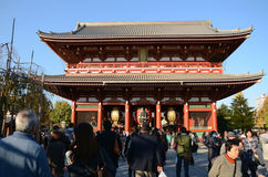 TOKYO, JAPAN - NOV 21: The Buddhist Temple Senso-ji is the symbo Stock Image