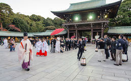 TOKYO, JAPAN-NOV 20 :Japanese wedding ceremony Royalty Free Stock Images
