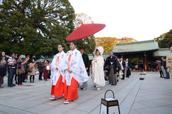 TOKYO,JAPAN-NOV 23 :Japanese wedding ceremony Stock Photos