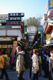 TOKYO, JAPAN - NOV 21 : Nakamise shopping street in Asakusa, Tok Royalty Free Stock Image