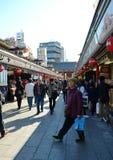 TOKYO, JAPAN - NOV 21 : Nakamise shopping street in Asakusa, Tokyo Royalty Free Stock Photos