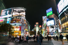Tokyo, Japan - Nov 25: Pedestrians cross at Shibuya Crossing on Royalty Free Stock Photography
