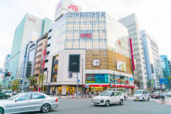 TOKYO ,JAPAN - 2016 Nov 17 : Shinjuku is one of Tokyo's busine. Ss districts with many international corporate headquarters located here. It is also a famous royalty free stock photography
