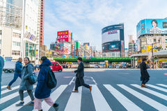 TOKYO ,JAPAN - 2016 Nov 17 : Shinjuku is one of Tokyo's busine. Ss districts with many international corporate headquarters located here. It is also a famous stock image